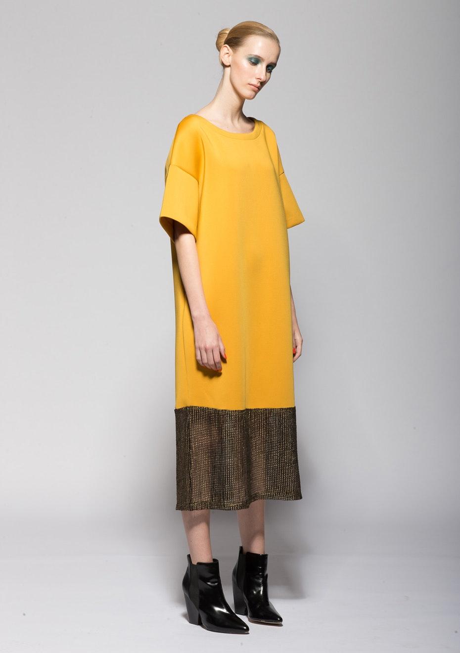 XPLAIN - Scent of Rain Dress - Mustard