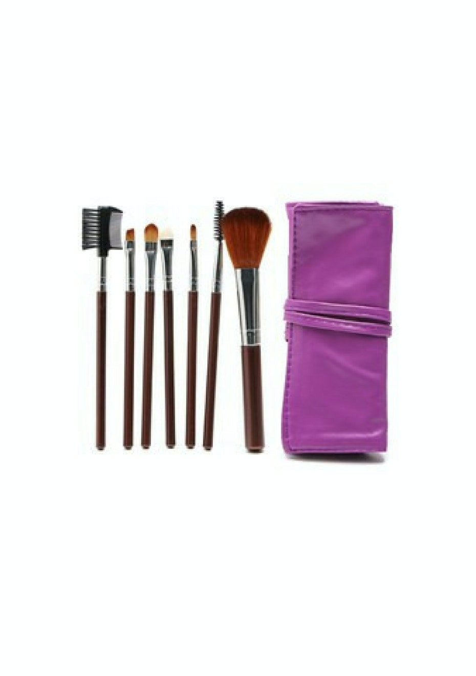 7pc Makeup Brush Set With Custom Case