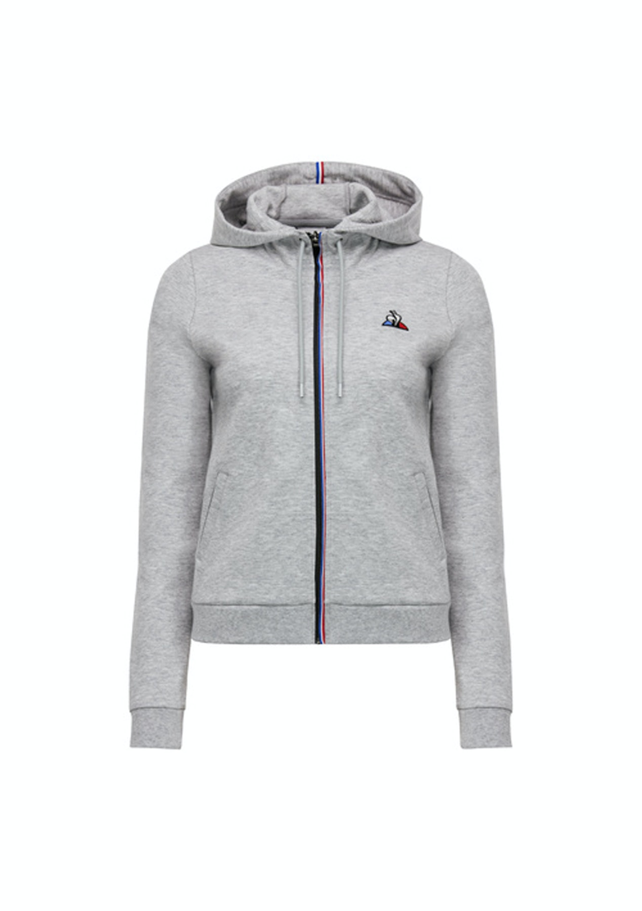 8d521c8b48 Le Coq Sportif - Womens Essentiels Zip Through Sweater - Grey Marle - Le  Coq Sportif - Onceit