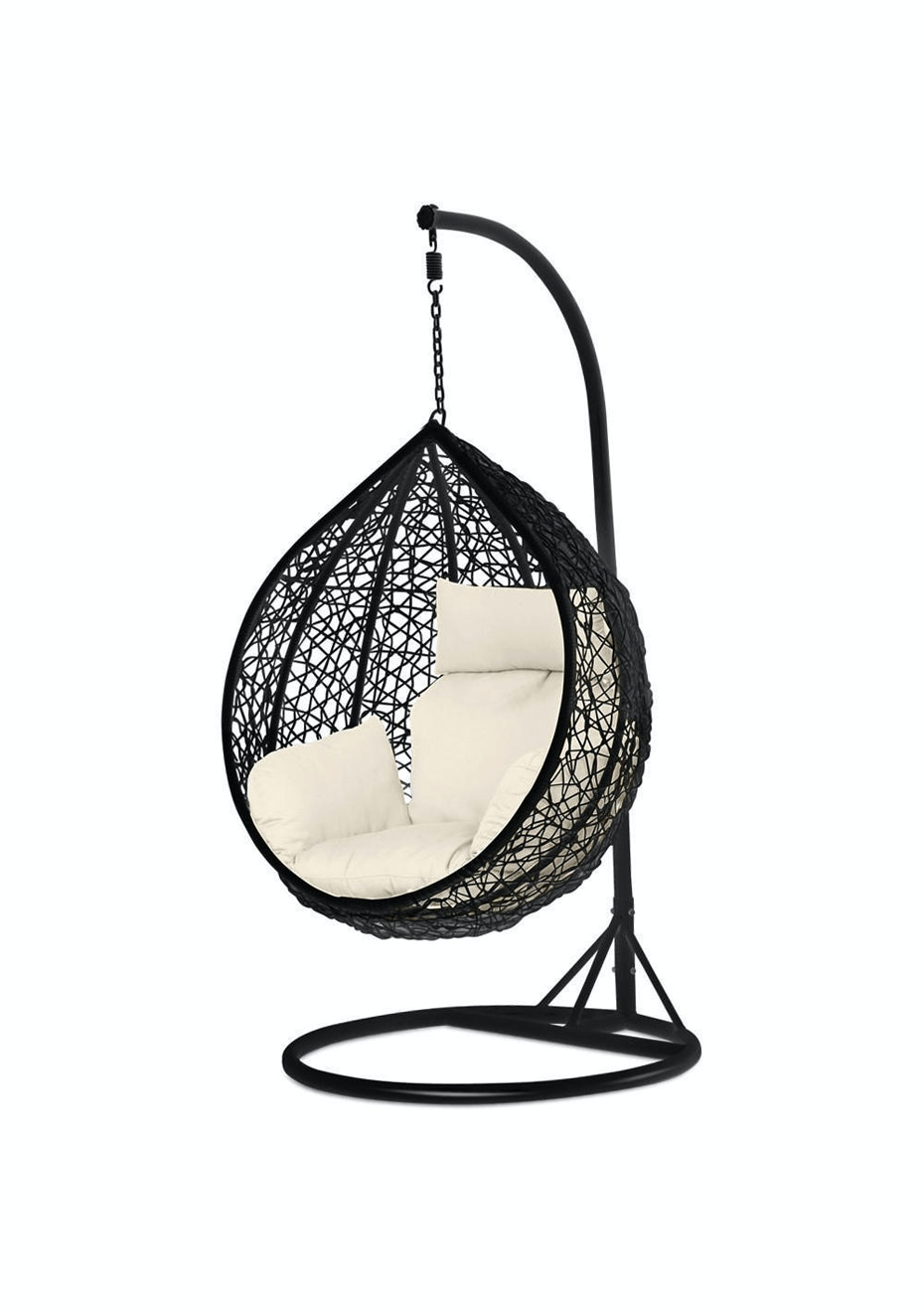 Ordinaire Outdoor Egg Shape Chair   Black   Outdoor Furniture Back By ...