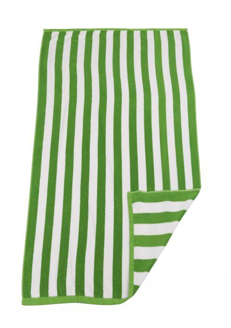 Hawaiian Stripe Beach Towel Green/White