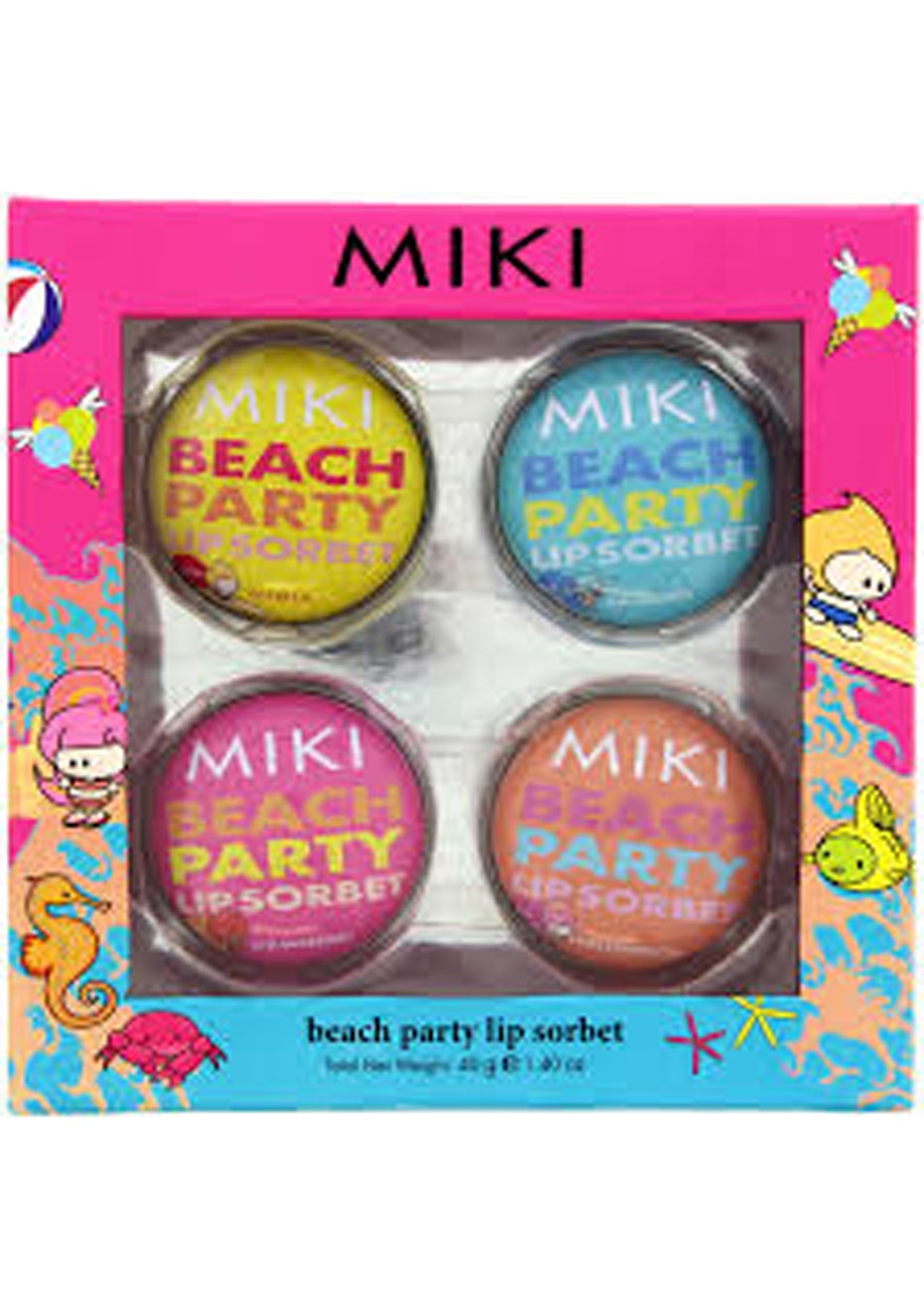 Miki Beach Party Lip Sorbet Set