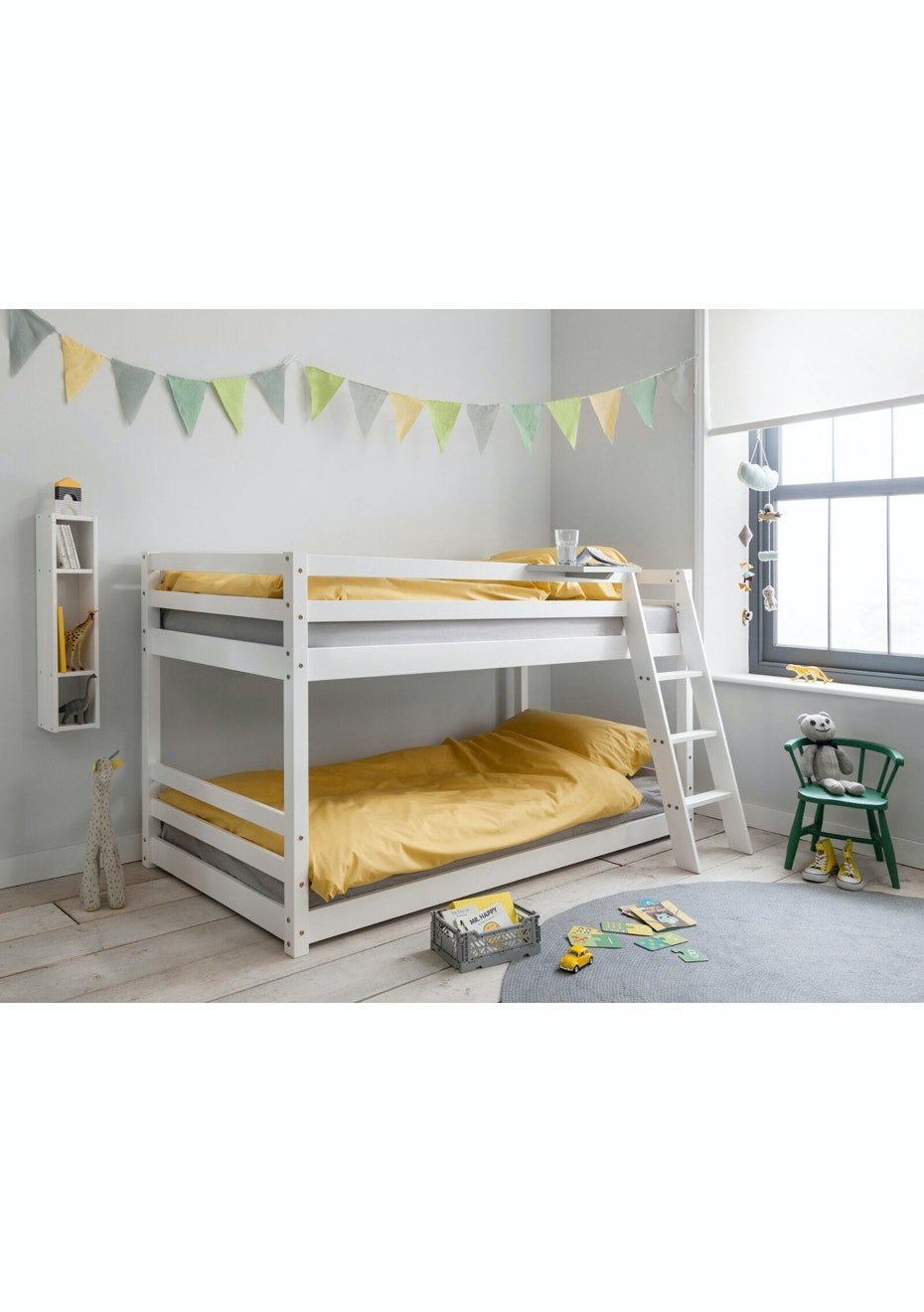 Picture of: Mid Sleeper Bunk Bed White Affordable Bedroom Makeover Onceit