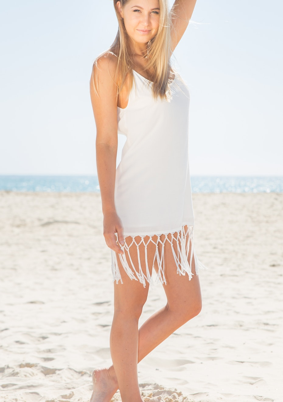 Gypsy Republic - Tassel Dress - White