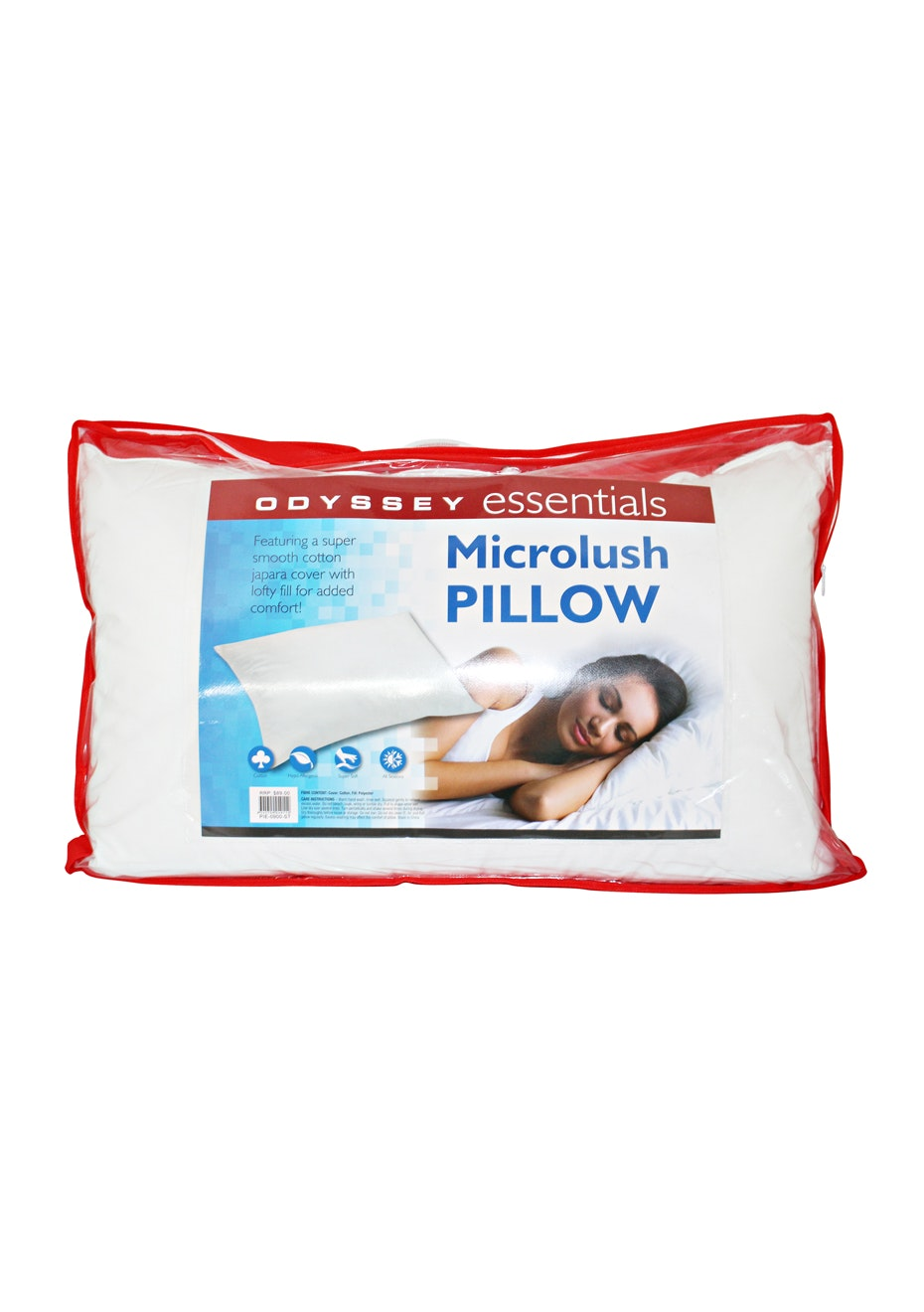 Microfibre Pillow with 100% Cotton Cover - 900 GMS