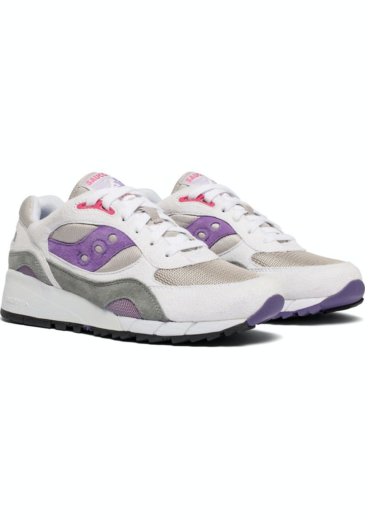 new product acd81 7a0f0 Saucony - Shadow 6000 - White/Grey/Purple
