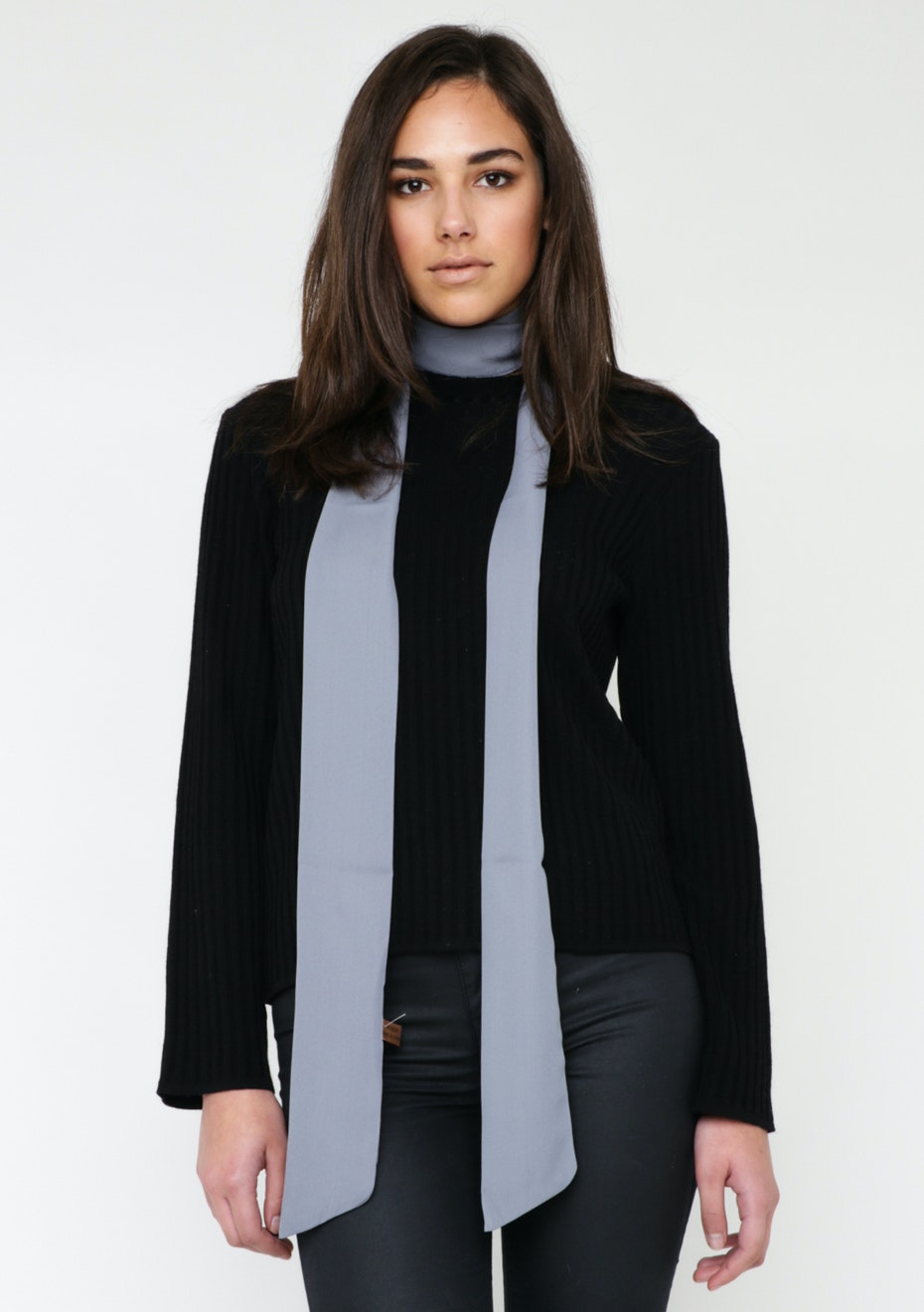 Skinny Tie Scarf - Grey