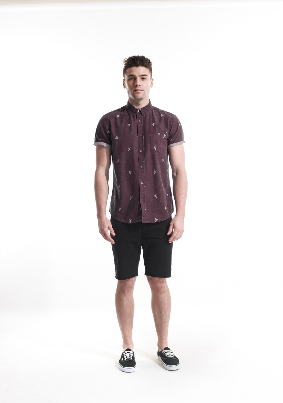 Deacon - Cannes SS Shirt - Burgandy