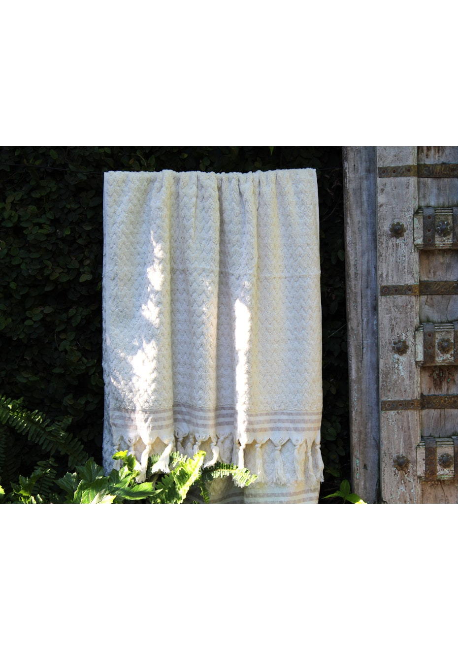 ZigZag Design Natural Cotton Terry Towel