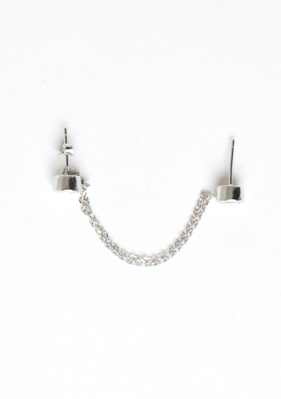 Dia Chain Drop Cuff - 925 Silver