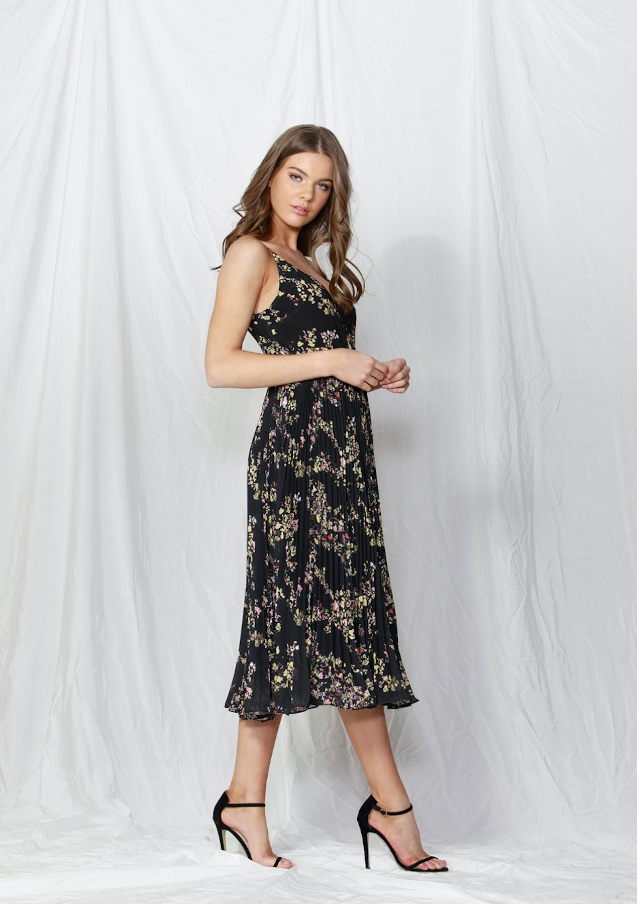 3c74cee82fd5a Fate - Lille Pleated Wrap Dress - Dolce Vita Print