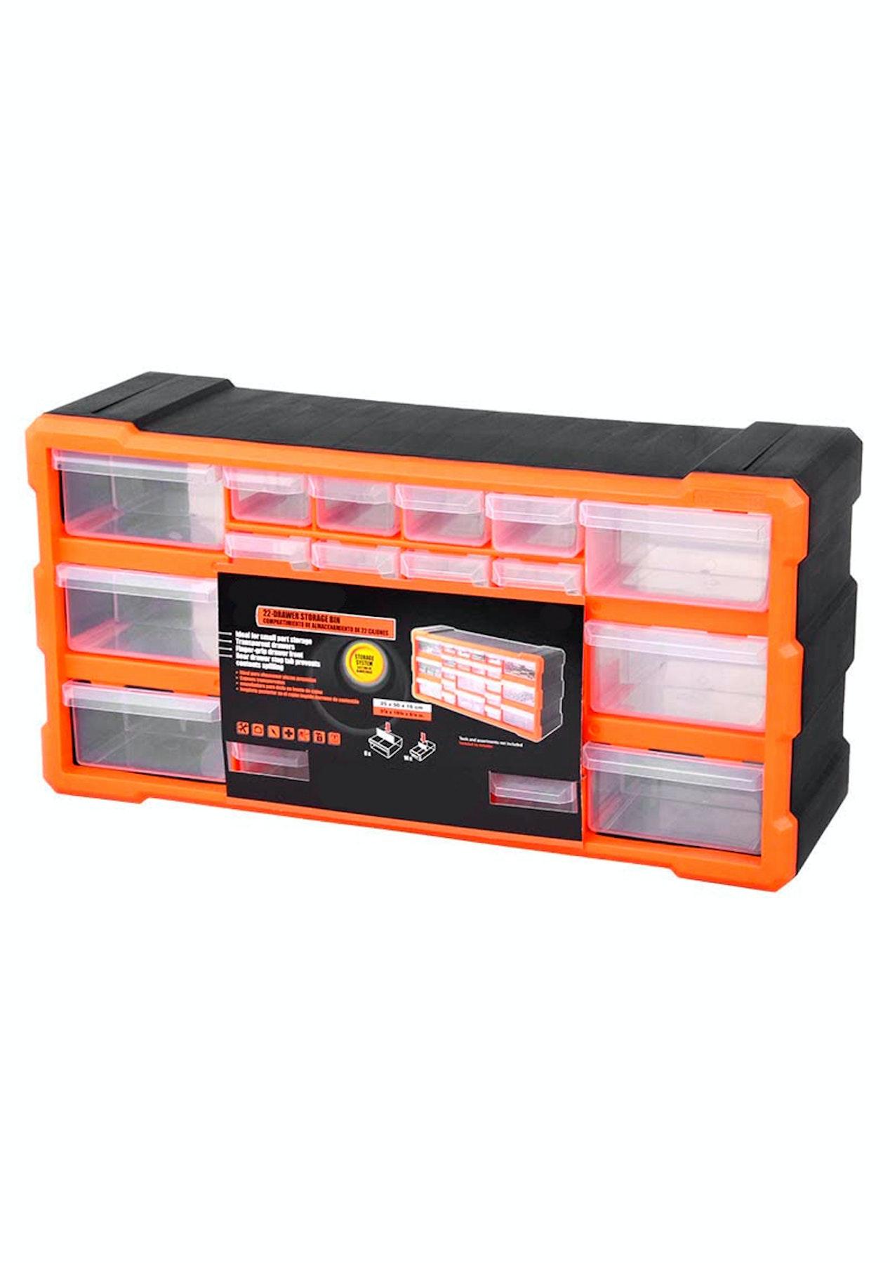 22 Drawer Plastic Parts Organizer Storage Box