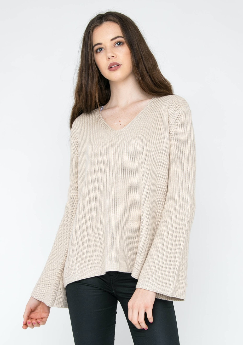 MINKPINK - Don't Mention It Knit Jumper - Natural