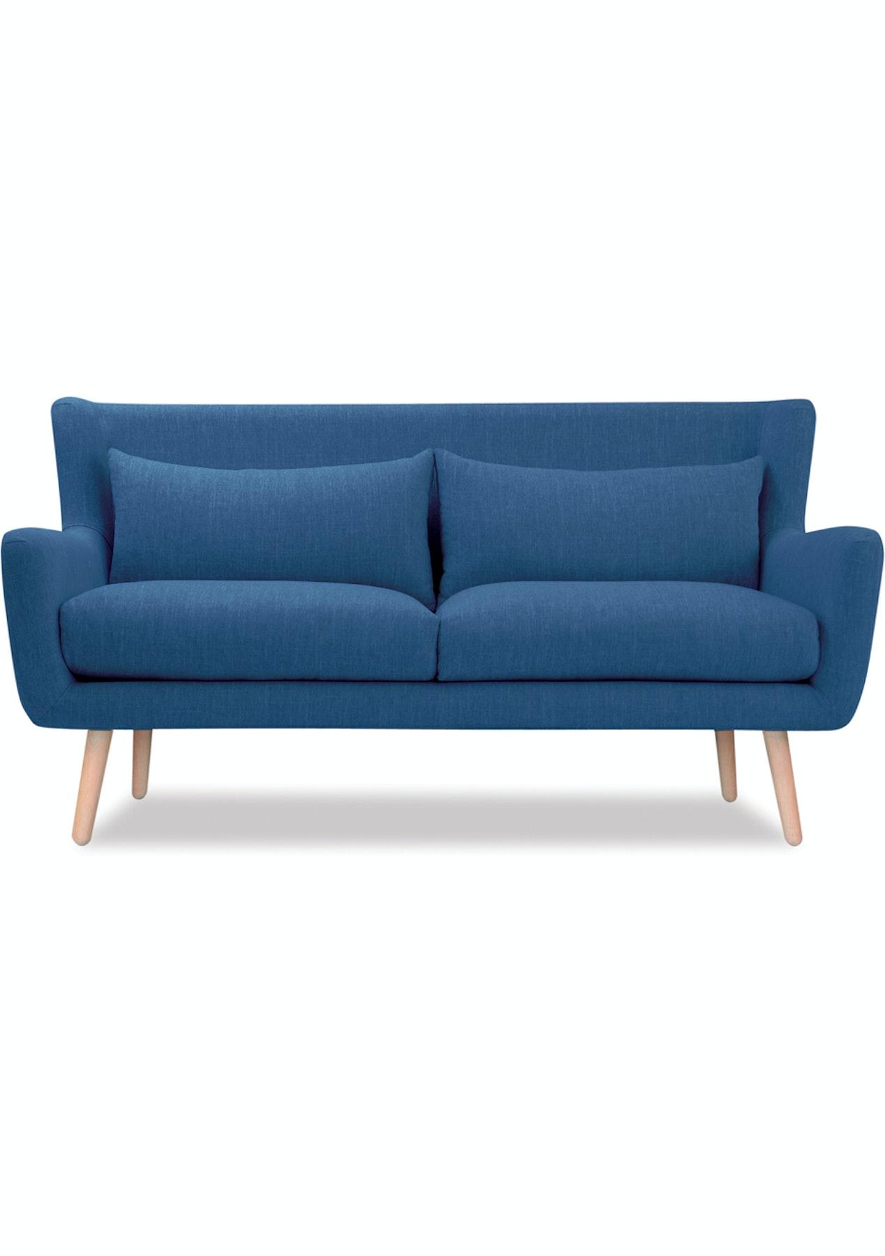 Danske Mobler Nelly 2 Seater Diego Petrol Blue Big Furniture