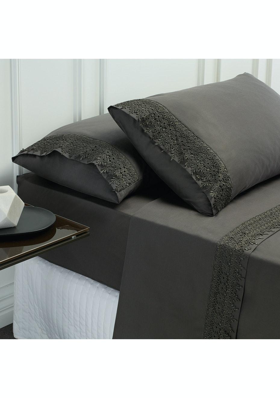Style & Co 1000 Thread count Egyptian Cotton Hotel Collection Valencia Sheet sets Mega Queen Coal