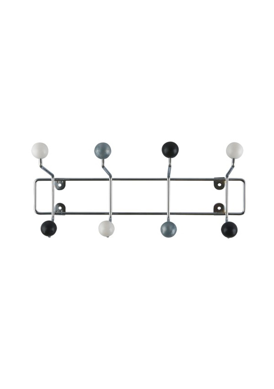 Pt Home - Coat Rack Saturnus - Black/Silver/White