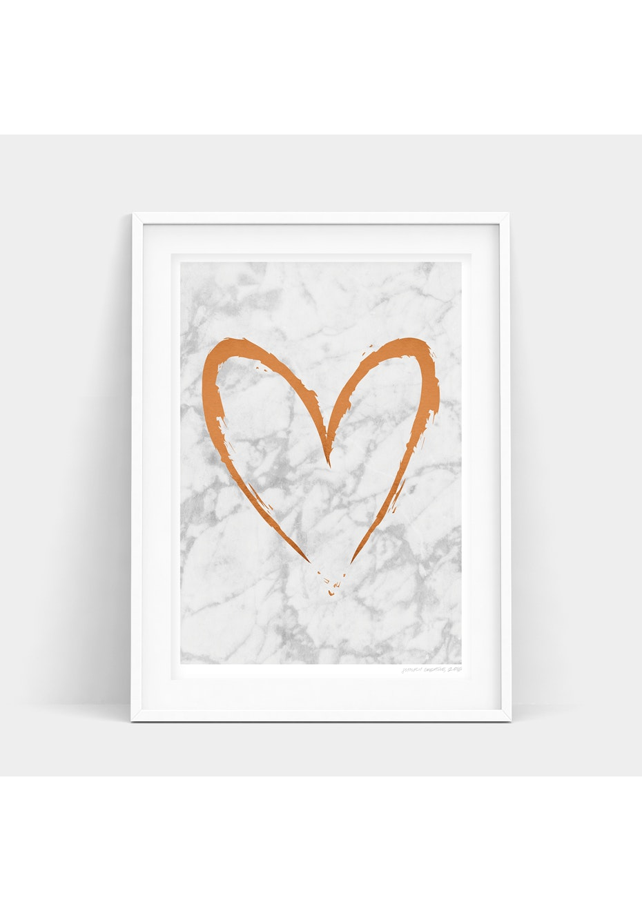 Simply Creative - Light Copper Heart - A3 Copper Foil Print