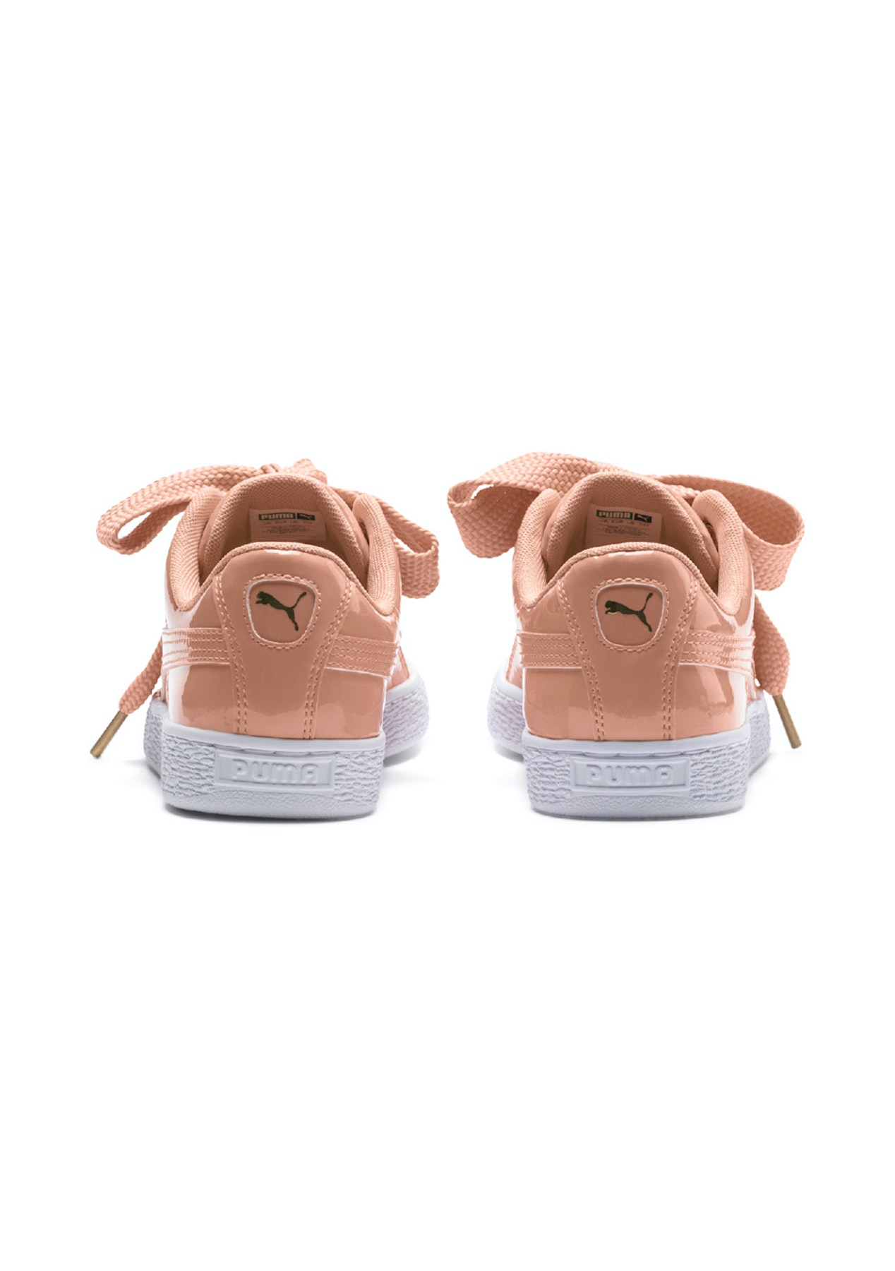 hot sale online 6eb37 6f0be Puma - Womens Basket Heart Patent - Dusty Coral