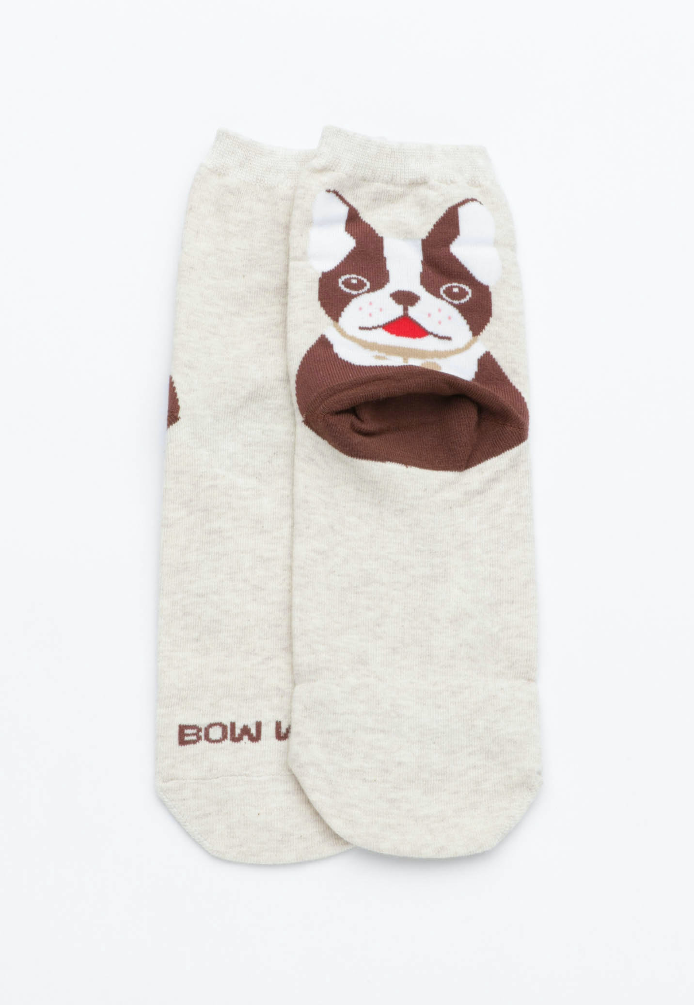 Bow Wow Socks - Oatmeal