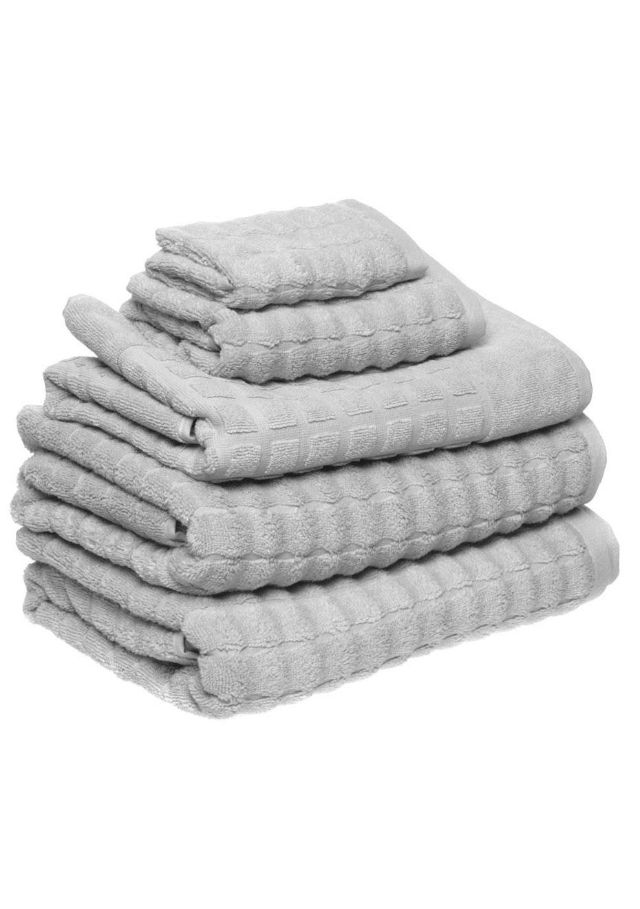 Conran Soho 5 Piece Towel Pack Soft Grey