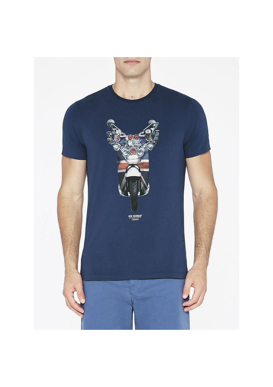 Ben Sherman - Bike Print Graphic Tee Blue Depths