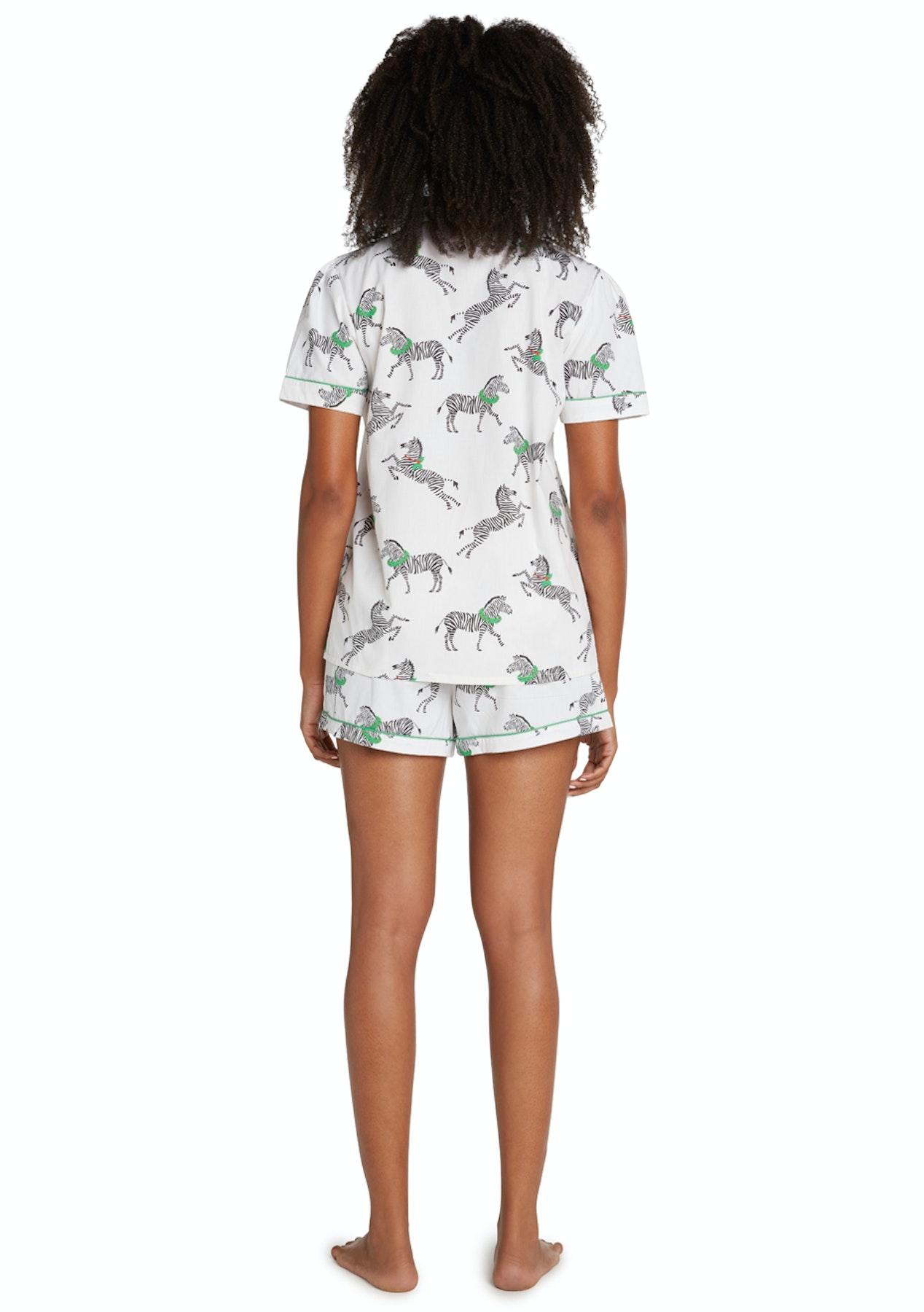 c5e6cc7d6619 Sant   Abel - Women - Long Sleeve Shirt   PJ Pant Set - Zebra - Luxe Silk    Sleepwear - Onceit