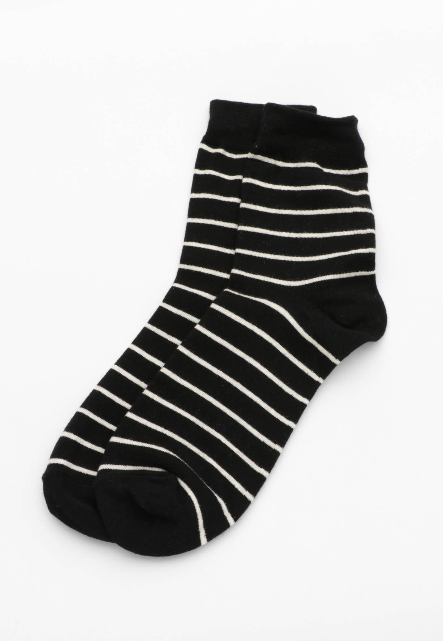 Stripe Socks - Black