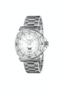 8acb087463a Gucci - YA136302   Men Stainless Steel Band White Dial   Men Watch