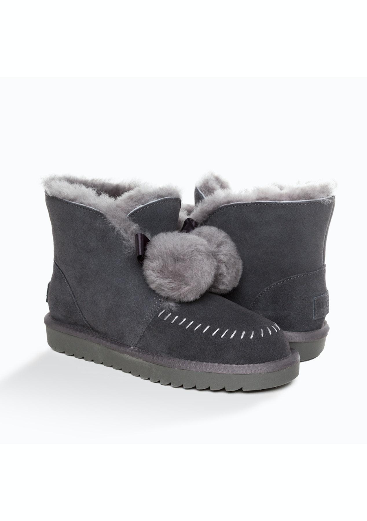 6f1bb0496e4 Ozwear - Ugg Amelia Pom Pom Boots - Grey