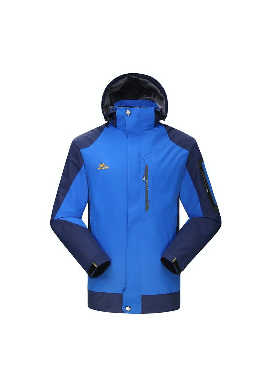 Men 2-in-1 WaterProof Jackets - Bright Blue