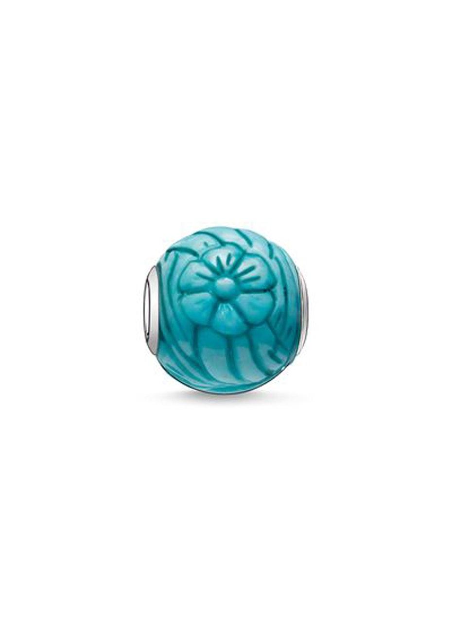 Thomas Sabo  - Karma Bead - Blue Carved Flower