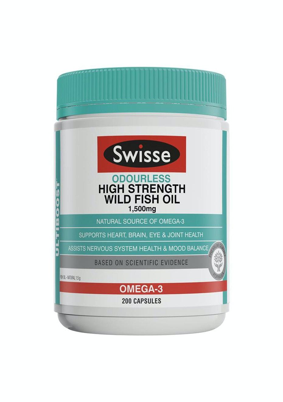 Swisse U/B Odrls Hi-Strength Wild Fish Oil 1500Mg 200 Caps