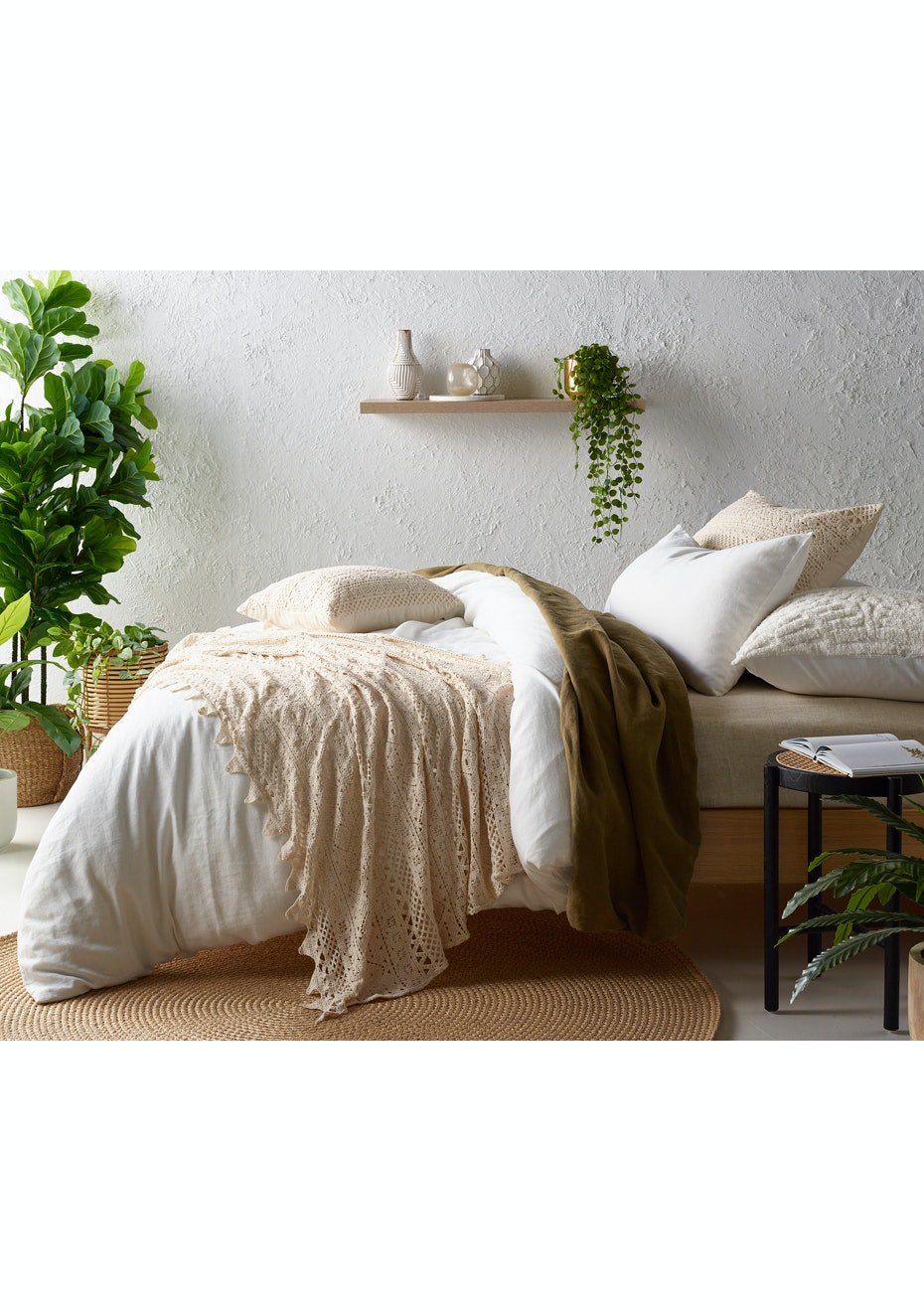 Tenille Natural Vintage Crochet Lace Bed Runner Throw The New Boho Bedroom Ships Free Onceit