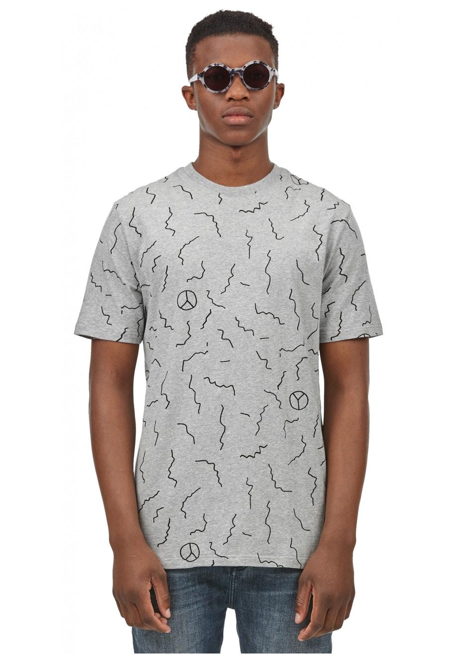 I Love Ugly - Mistake Print Tshirt - Grey
