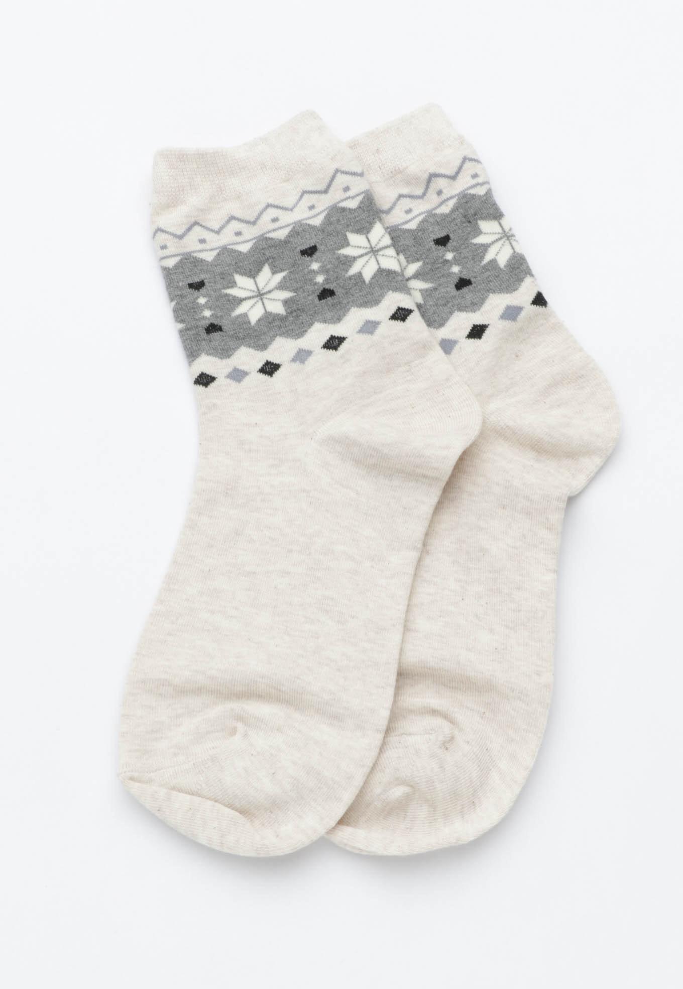 Snowflake Pattern - Oatmeal