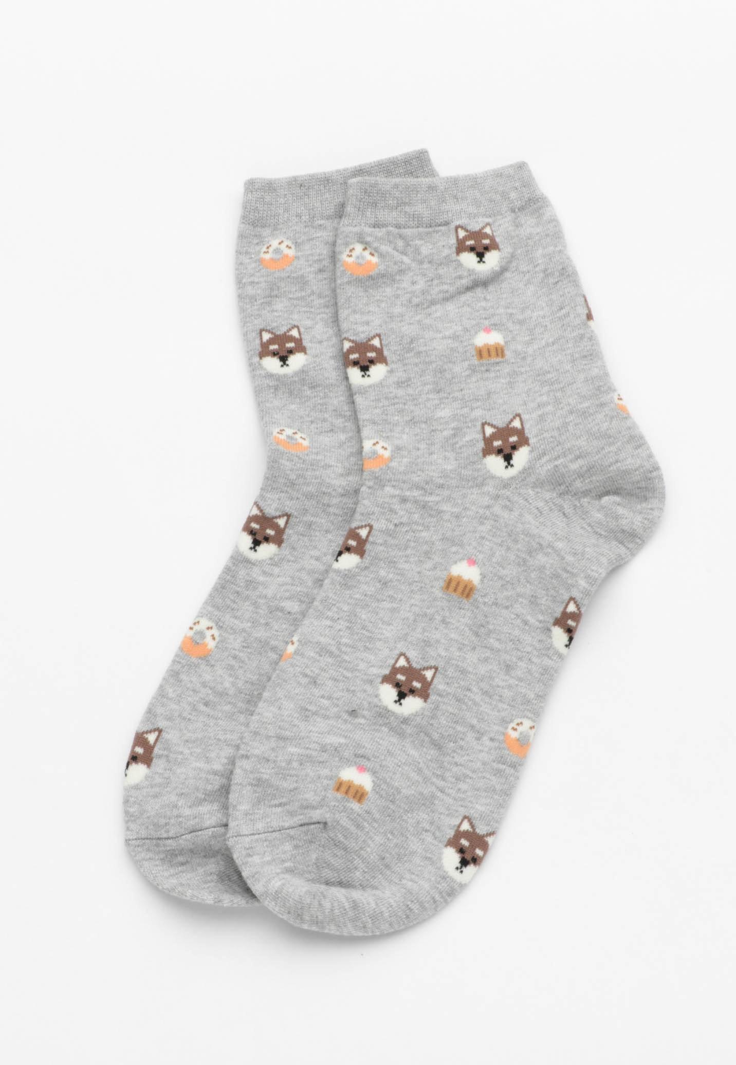 Puppy Cupcake Socks - Blue