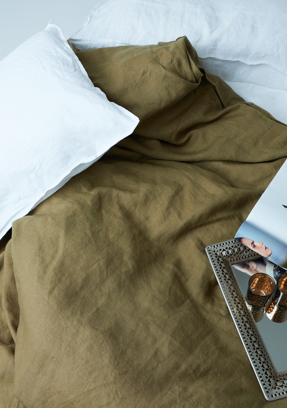 100 French Linen Duvet Cover Set Queen Olive Free Shipping 100 French Linen Bedding More Onceit