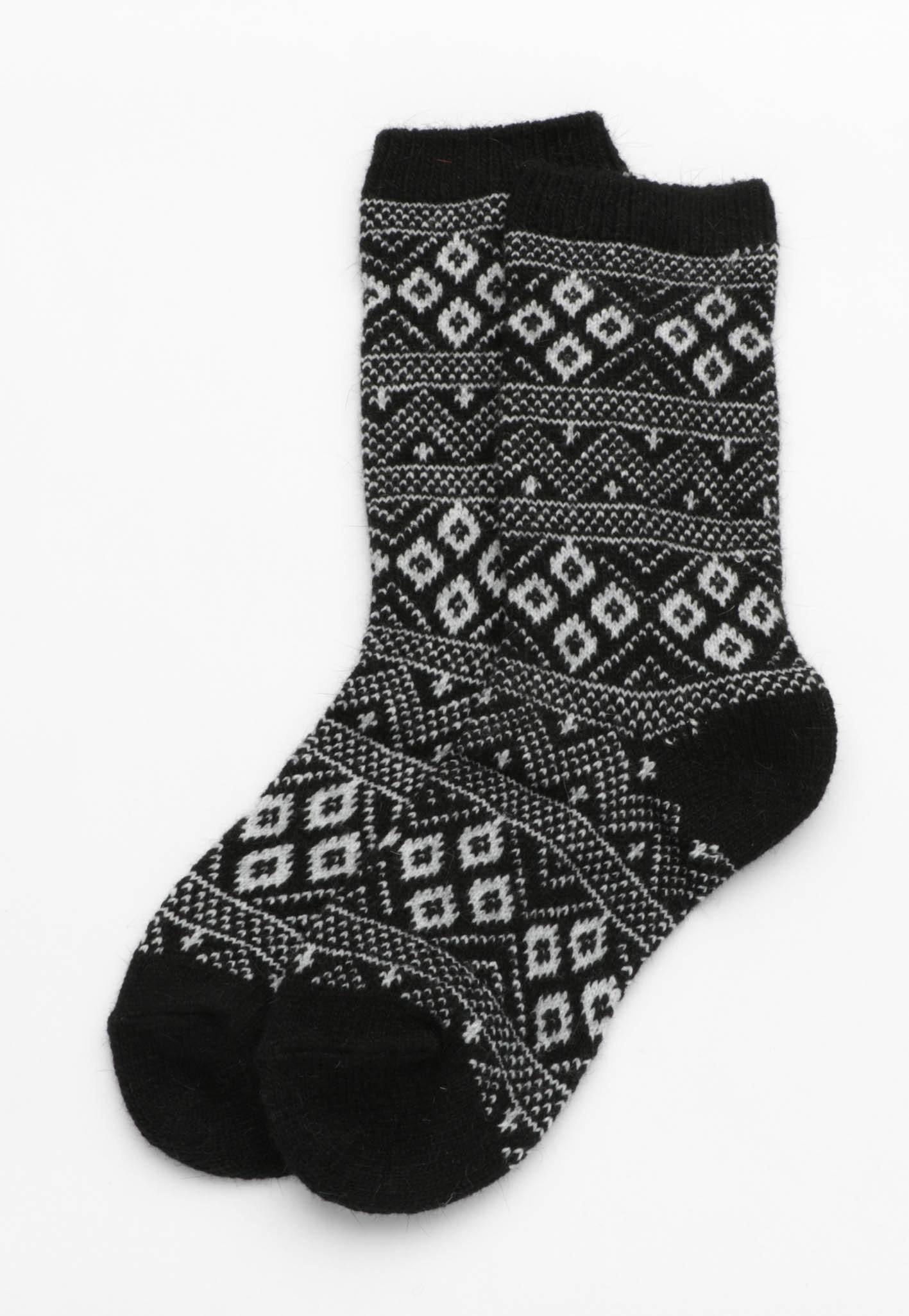 Indie Print Socks - Black