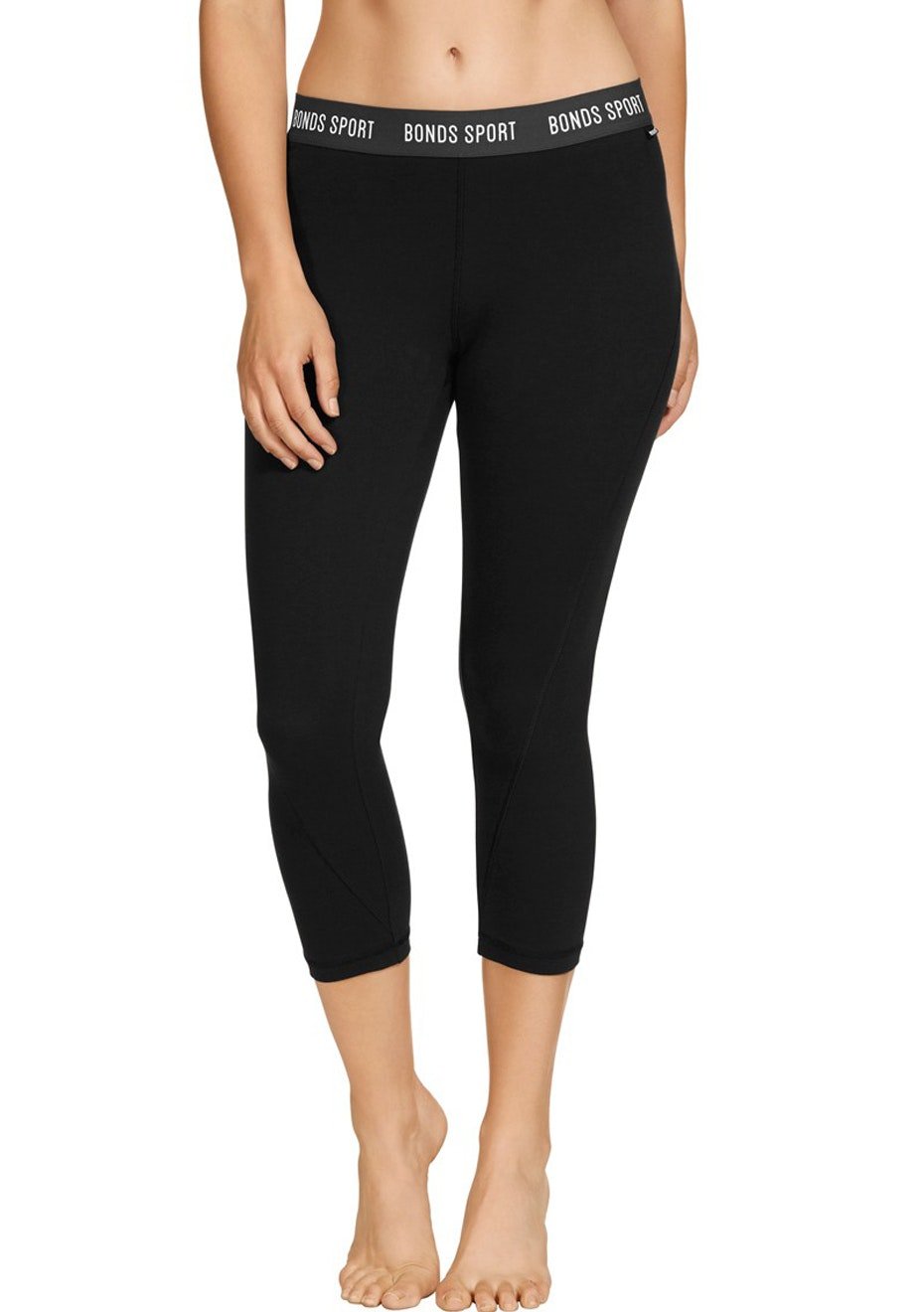 BONDS - Active Cotton Capri - Black