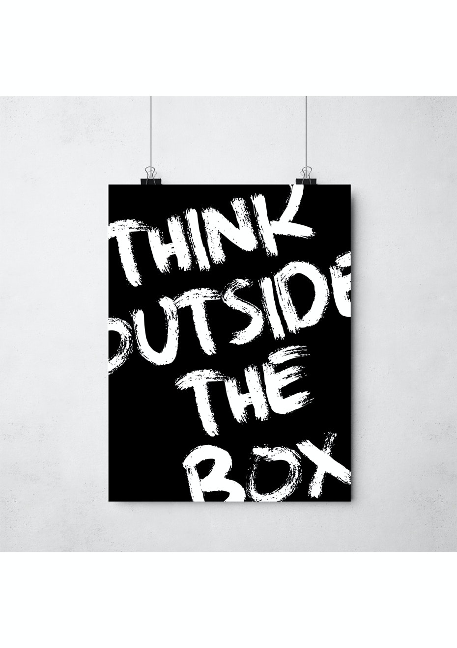 Simply Creative - Think Outside The Box - A3 Monochrome Print