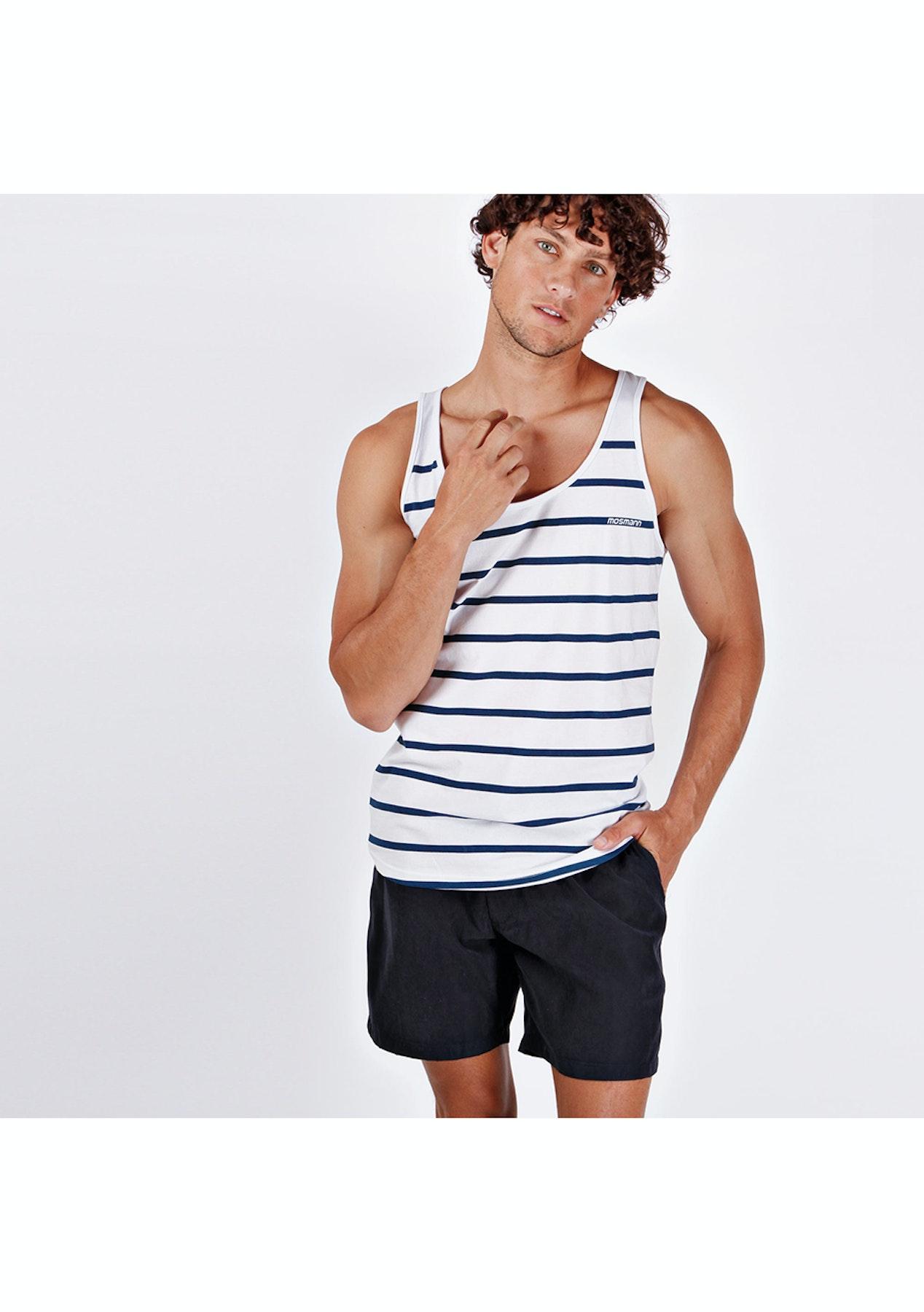 deaa921b4b Mosmann Australia - Resort Mid Swim Shorts - Navy Blue - Father's Day -  Express Shipping! - Onceit