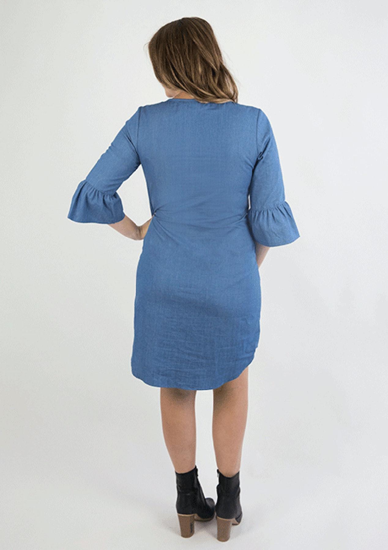 bd9cce3d8c1b8 Mrs Smith - Ava Denim Breastfeeding Dress - Chambray Blue - The Maternity  Shop - Onceit