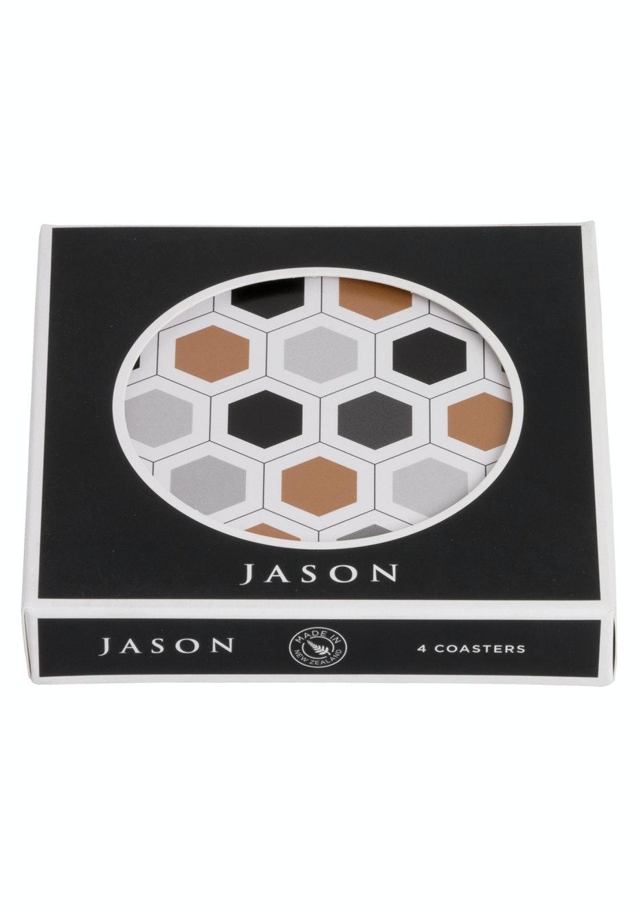 Jason - Hexagonals Coasters - Set of 4