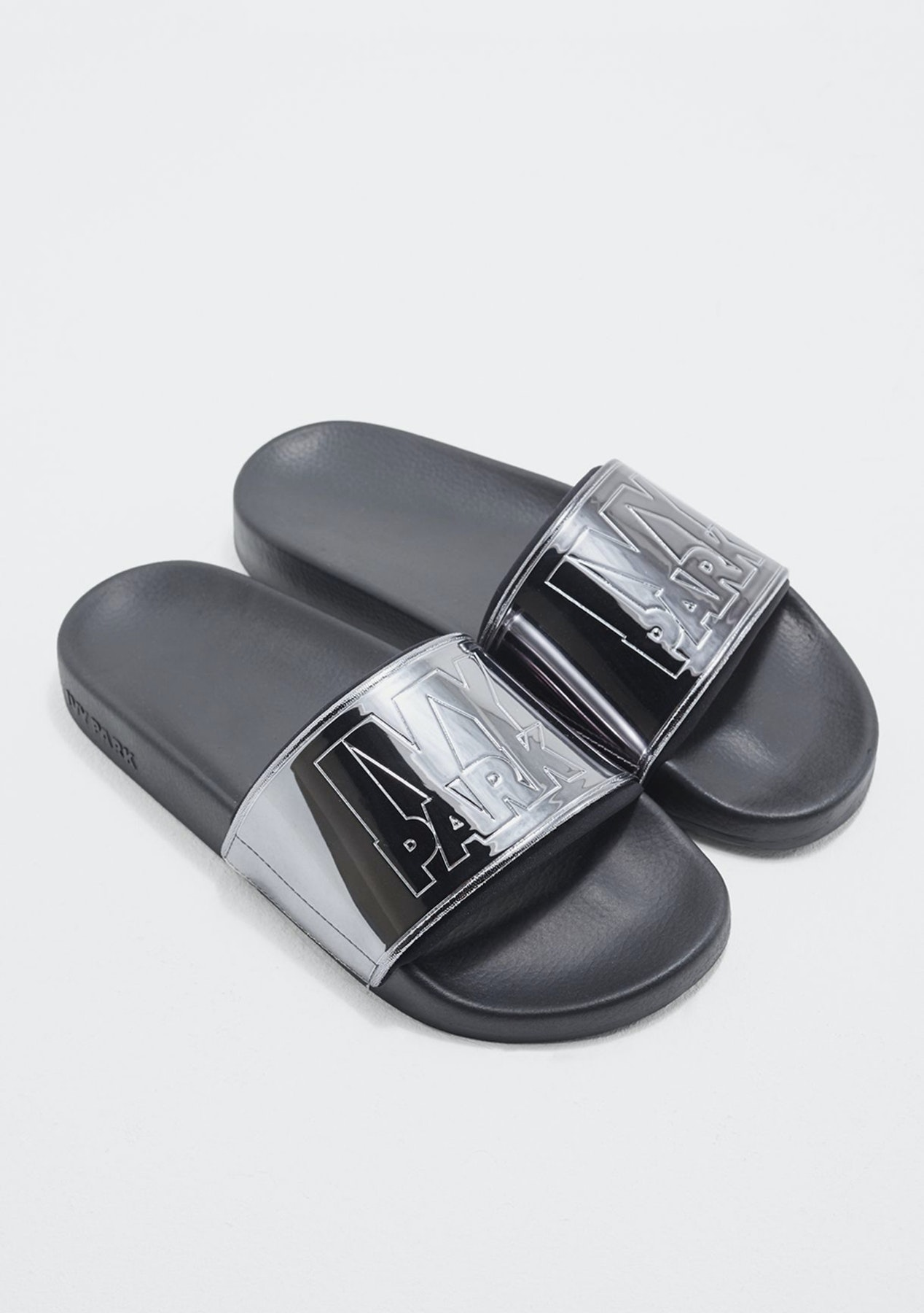 295b73d861d080 Ivy Park - Metallic Neo Slider - Gunmetal - Big brand Flash Sale 48 hour  Price Drop - Onceit