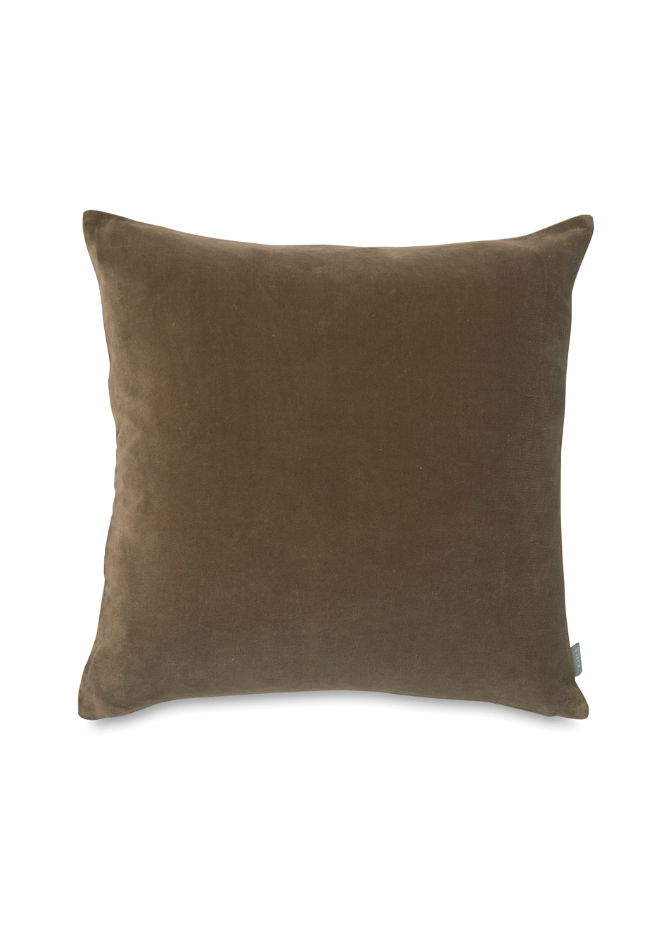Citta - Cotton Velvet Cushion Cover - Caper