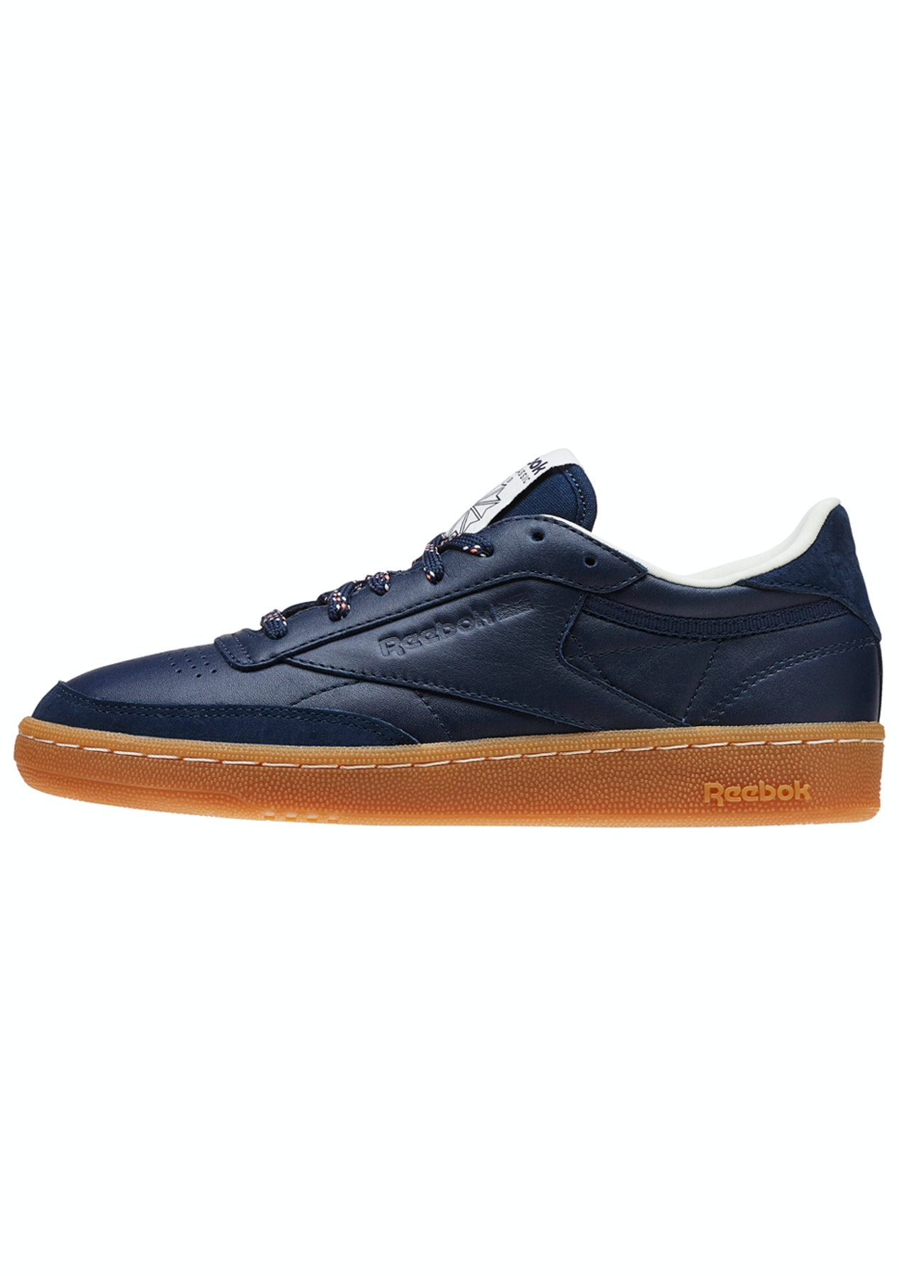 a0535eab1cede Reebok Womens - Club C 85 Shades Navy Classic White - Free Shipping Shoe  Sale - Onceit