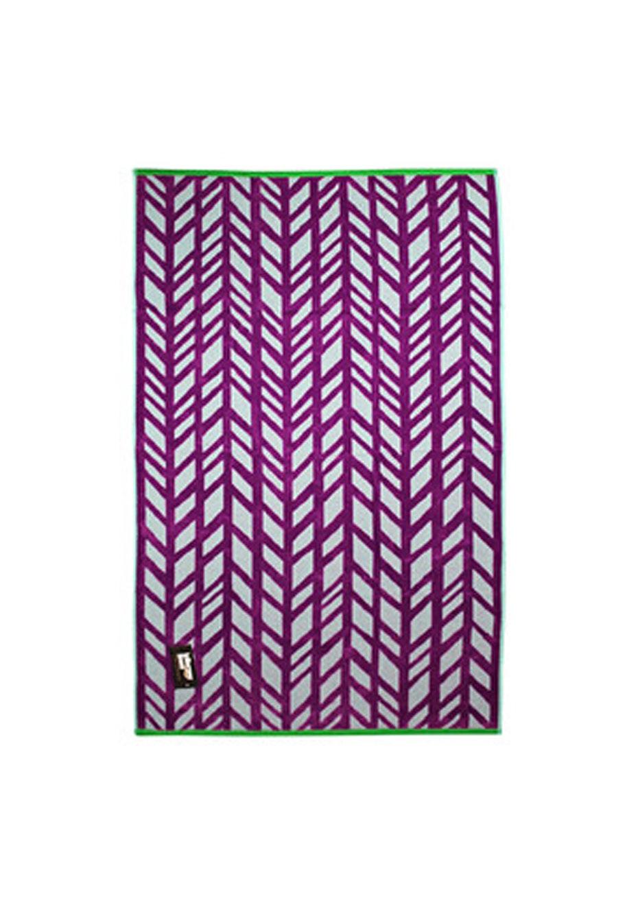 Kayla 100% Cotton Velour Jacquard Beach Towel - 80x160cm