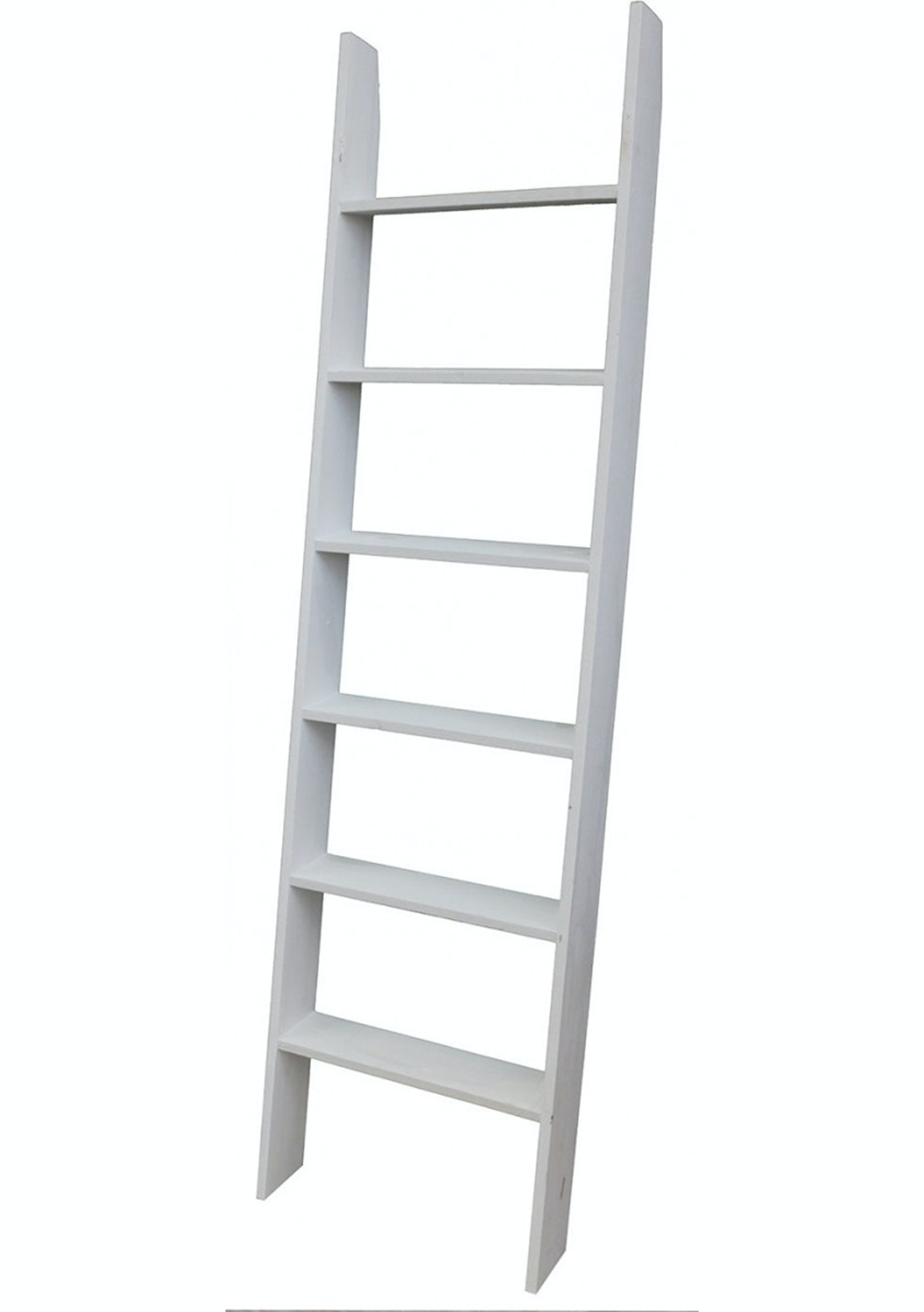170Cm Shabby White Finish Ladder Shelving  Shelves, Bookcases, Storage