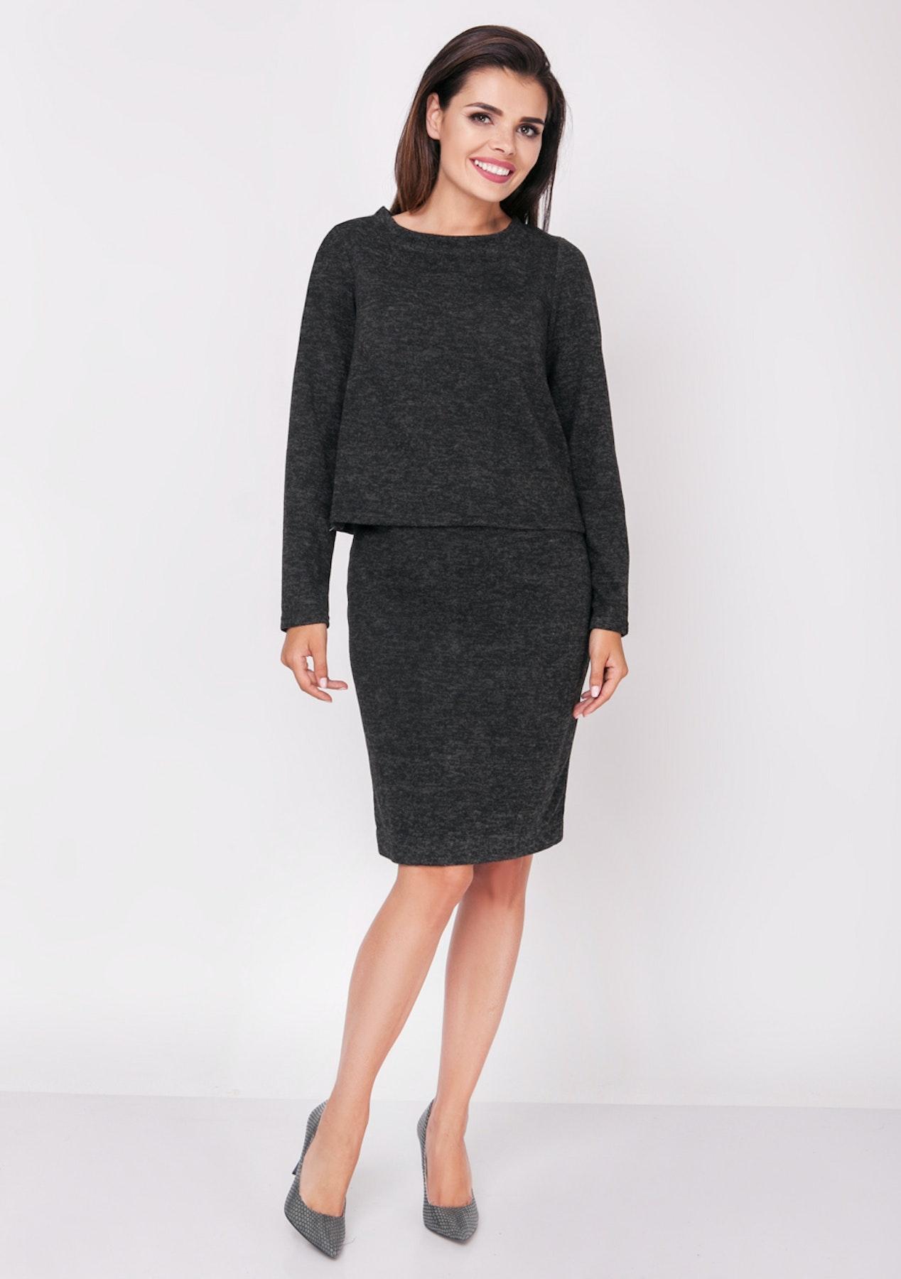2c20dd86abdfd Foggy - Woven Skirt And Blouse - Black - European Designer Outlet - Onceit