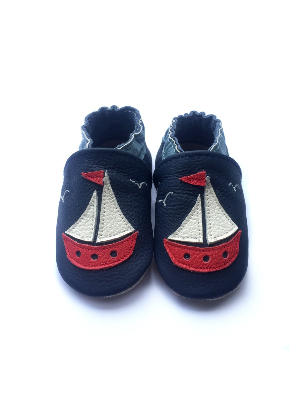 Baby  Leather Shoes - Navy / Sea Boat